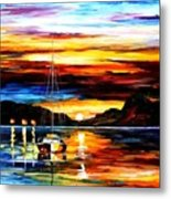 Drowned Sunset Metal Print