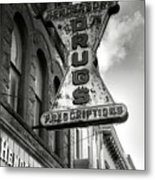 Drug Store Sign Metal Print by Steven Ainsworth
