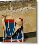 Drum At The Wall Metal Print by Kimberly Camacho