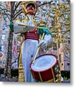 Drummer Boy  In Rockefeller Center Metal Print