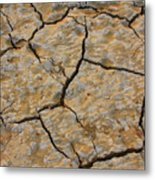 Dry Cracked Lake Bed Metal Print