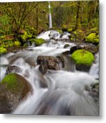 Dry Creek Falls In Spring Metal Print