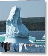 Drying Clothes In Ice Berg Alley Metal Print