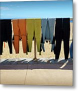 Drying Wet Suits Metal Print
