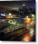 Los Angeles Night Metal Print