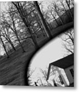 Duality - A Black And White Photograph Symbolically Representing The Gravity Of Choice  Metal Print