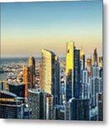 Dubai Towers At Sunset. Metal Print