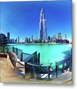 Dubai Burj Khalifa Panorama Metal Print