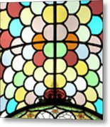 Dublin Art Deco Stained Glass Metal Print