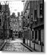 Dublin Ireland - Essex Street In Black And White Metal Print