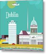 Dublin Ireland Vertical Scene Metal Print