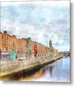 Dublin Watercolour Metal Print