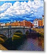 Dublin's Fairytales Around Grattan Bridge 2 Metal Print