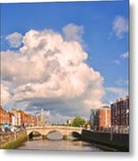 Dublin's Fairytales Around  River Liffey Metal Print