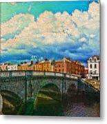 Dublin's Fairytales Around  River Liffey V4 Metal Print