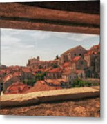 Dubrovnik City In Southern Croatia Metal Print