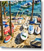 Dubrovnik Croatia - Sea Of Boats Metal Print
