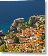 Dubrovnik Fortress From Above Metal Print