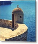 Dubrovnik Fortress Wall Tower Metal Print