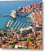 Dubrovnik From Above Metal Print