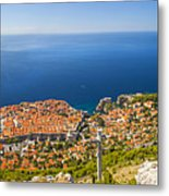 Dubrovnik From Above Panorama Metal Print