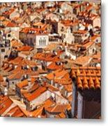 Dubrovnik Orange Old Town Rooftops Metal Print