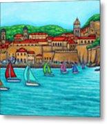 Dubrovnik Regatta Metal Print