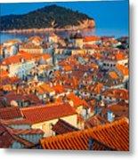 Dubrovnik Rooftops Metal Print
