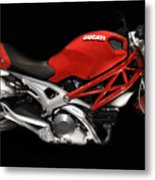 Ducati Monster In Red Metal Print