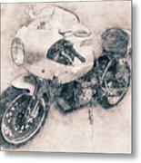 Ducati Paulsmart 1000 Le - 2006 - Motorcycle Poster - Automotive Art Metal Print