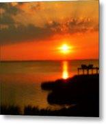 Duck Sunset Outer Banks North Carolina Metal Print