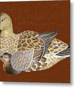 Ducks - Wood Carving Metal Print