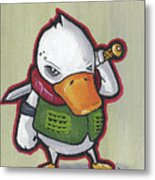 Ducky Death Metal Print