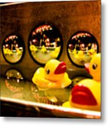 Ducky Reflections Metal Print