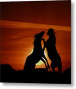 Duel At Sundown Metal Print