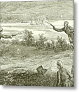 Duel Between Alexander Hamilton And Aaron Burr Metal Print