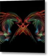 Dueling Dragons Metal Print