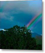 Dueling Rainbows Metal Print