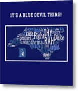 Duke University Blue And White Products Metal Print