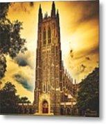 Duke University Chapel At Dusk Metal Print
