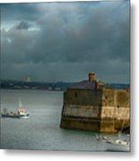 Dun Laoghaire Harbor Lighthouse Metal Print
