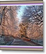 Dundalk Avenue In Winter. L A With Alt. Decorative Printed Frame. Metal Print