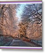 Dundalk Avenue In Winter. L B With Decorative Ornate Printed Frame. Metal Print