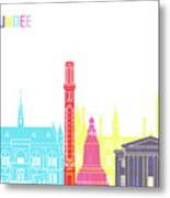 Dundee Skyline Pop Metal Print