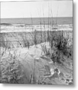 Dune - Black And White Metal Print