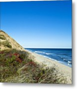 Dune Cliffs And Beach Metal Print