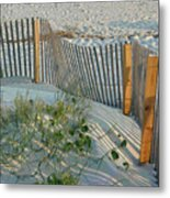 Dune Fence Metal Print by Suzanne Gaff