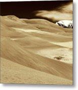 Dunes And Peak Metal Print