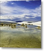 Dunes And Reflections Three Metal Print