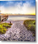 Dunes At The Pier Metal Print
